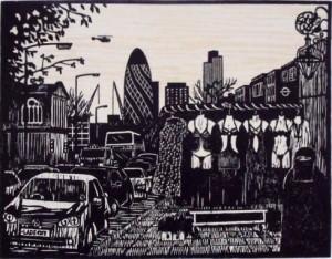 Outside the Blind Beggar, Whitechapel